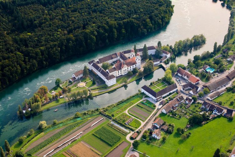 Helikopter Rundflug zum Kloster Rheinau
