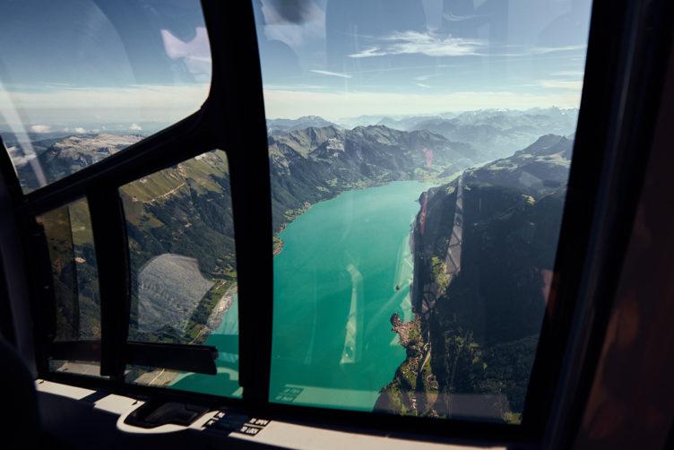Helikopterflug von Zürich zum Brienzersee